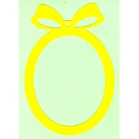 Основа за картичка, овал, жълто, 13 см/19 см