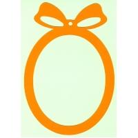 Основа за картичка, овал, оранж, 13 см/19 см