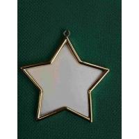 Рамка, месинг, звезда, 4.8 см / 8.5 см