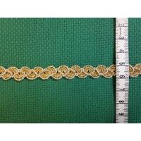 Ширит, златна плетка, 10 мм