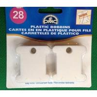 Пластмасови бобини за намотаване на конец, 28 бр.