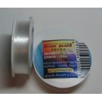 Конец за мъниста, прозрачно бяло, 0.18 мм