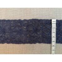 Ластична дантела, цвят сиво синьо, 5.5 см