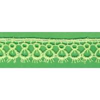 Брюкселска дантела, св. зелена, 18 мм