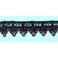 Брюкселска дантела, черна, 20 мм