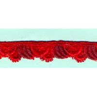 Брюкселска дантела, червена, 1.5 см