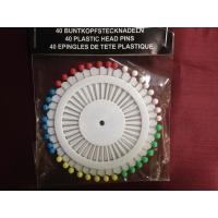 Карфици с платмасово топче, кръг,  40 бр