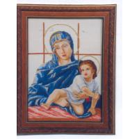 Мадона с дете в синьо