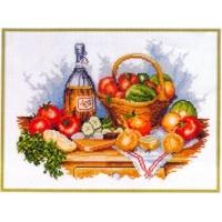 Натюрморт с плодове и зеленчуци