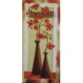 Платно - Оранжеви цветя, FV-033