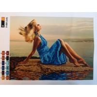 Девойка на брега на морето, F-005