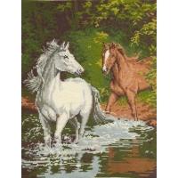Коне в реката