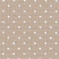 """Панама Murano Lugana """"Petit Point"""", цвят тъмно екрю на бели точки, 32 ct"""